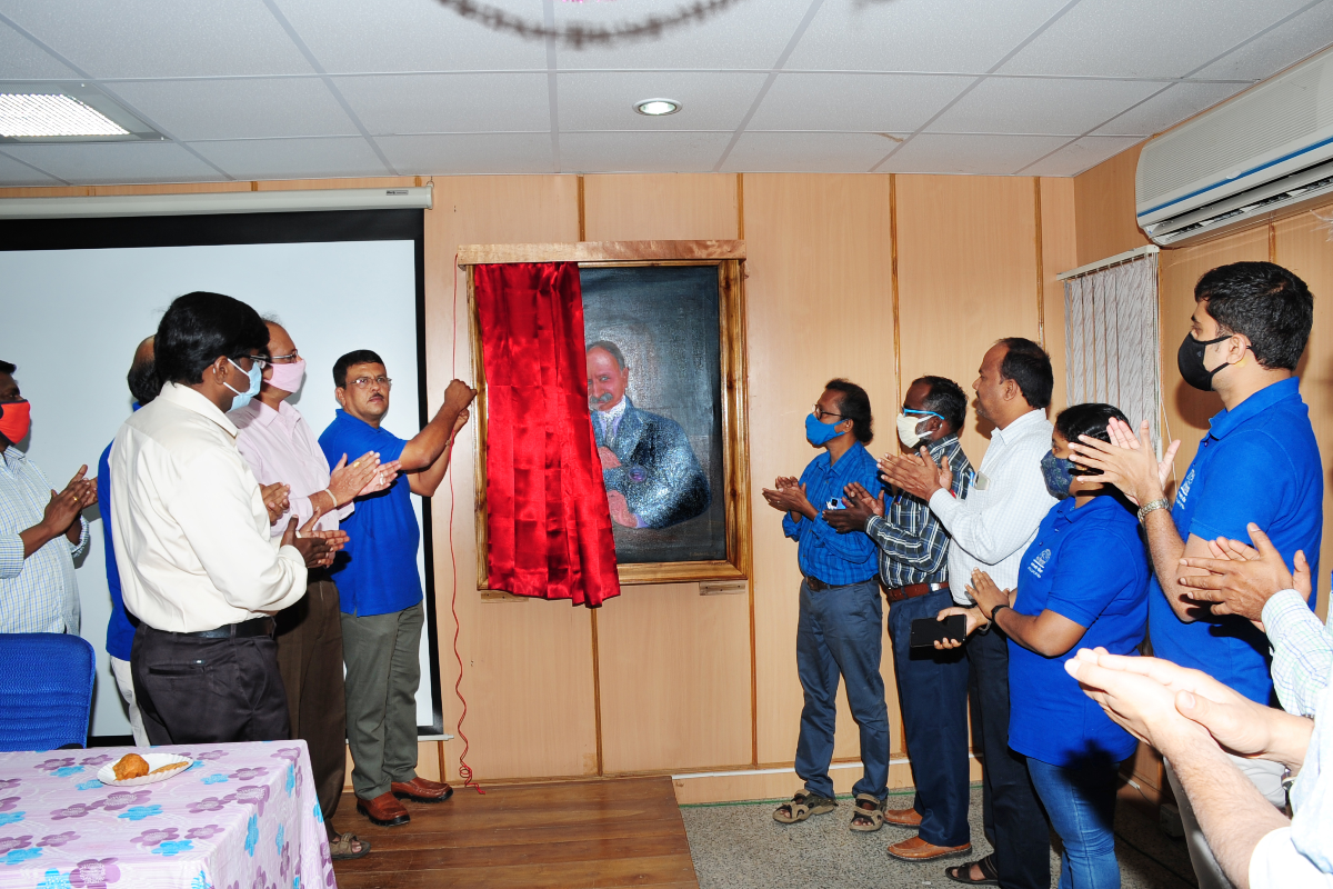 5. Unveiling Portrait of J S Gamble by Dr. M.U. Sharief, HOO at BSI SRC, Coimbatore on 01-01-2021