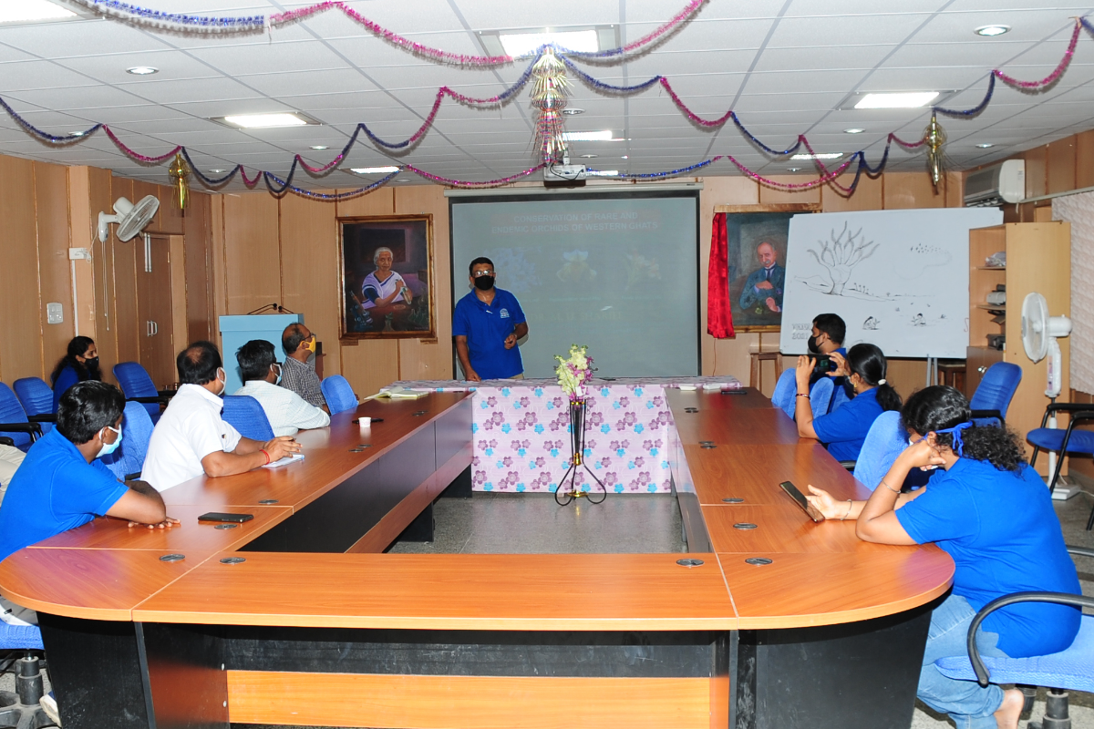 17. Dr M.U Sharief delivering lecture on Conservation of Orchids-1