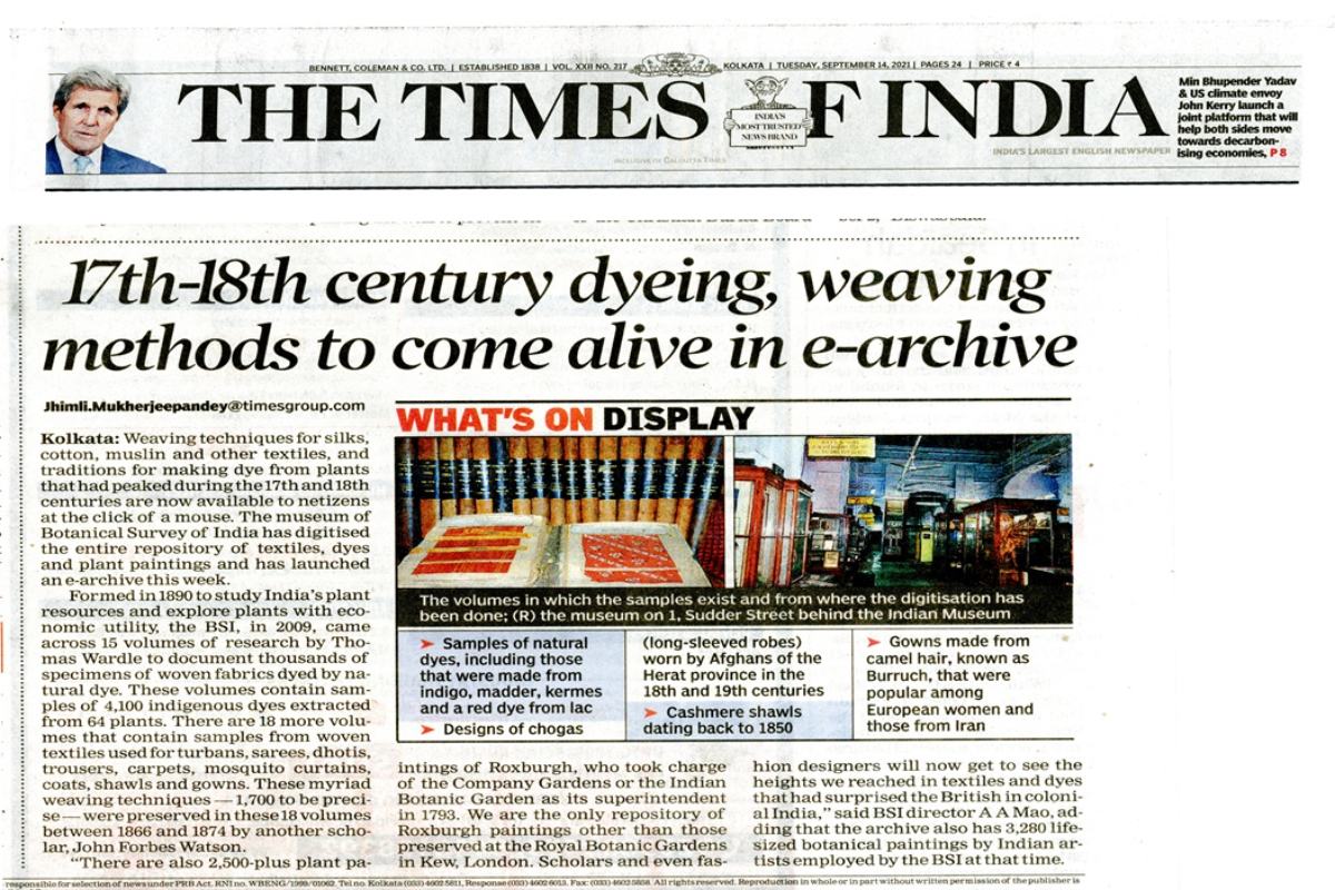 17th-18th century dyeing, weaving methods to come alive in e-archive