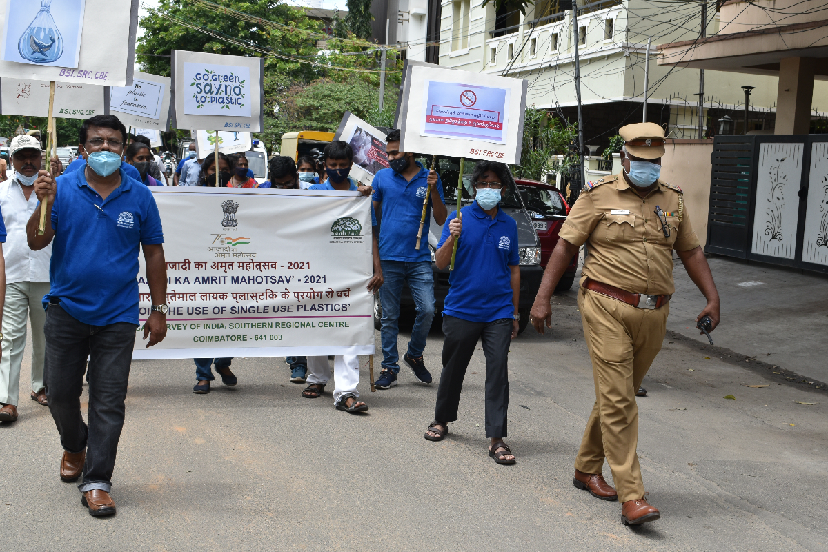 The Awareness Rally passing through the Robertson Road along with Police Escort