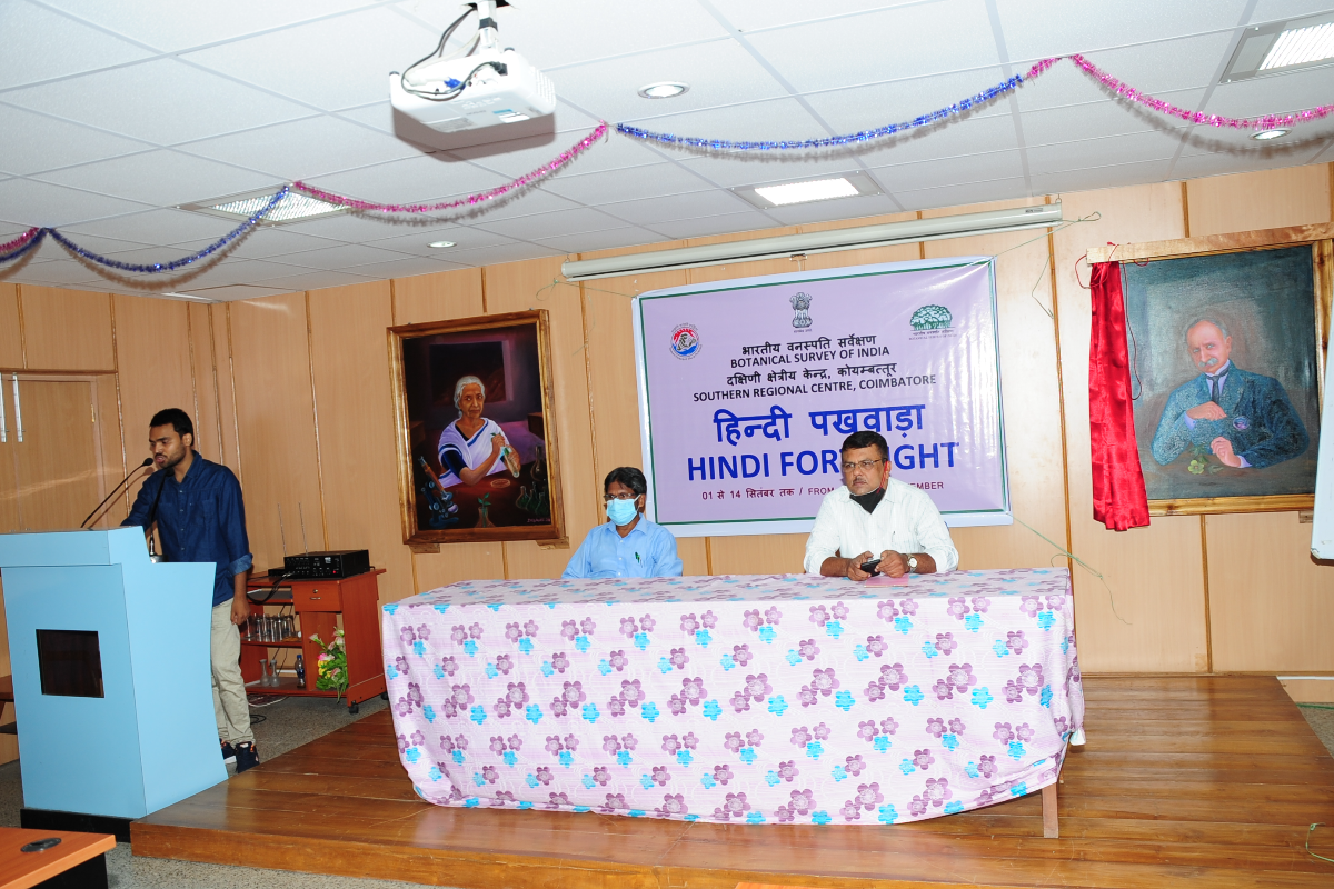 Opening Ceremony of Hindi Fortnight-2021 at BSI, SRC, Coimbatore