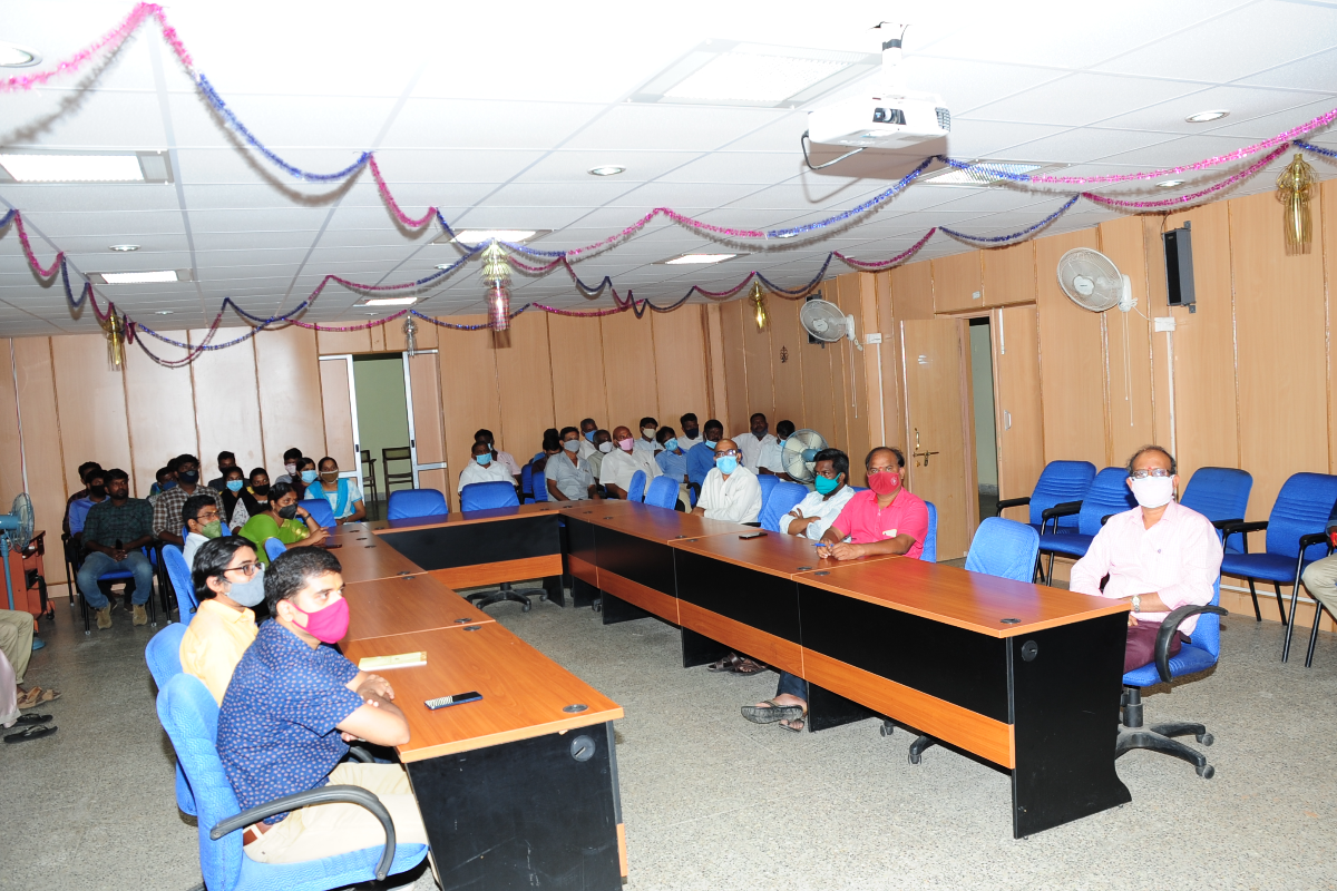 Staff of BSI, SRC, participating in the Hindi Fortnight Opening Ceremony
